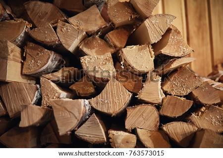 wood burning stove. firewood...