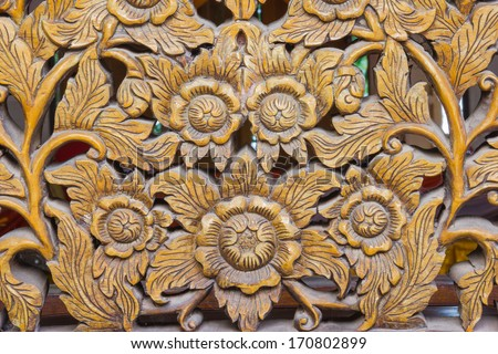 Wood Carving Of FlowersThailand 170802899
