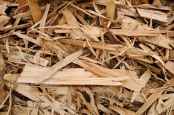 Wood-chips Close-up of a wood-chip stack
