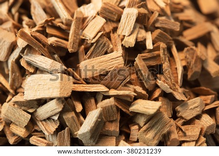 Wood chips for smoking or recycle. \n