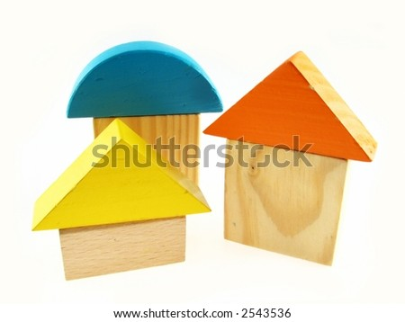 Wood color toy blocks