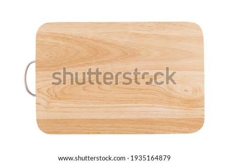 Wood cutting board isolated on white background Stock foto ©
