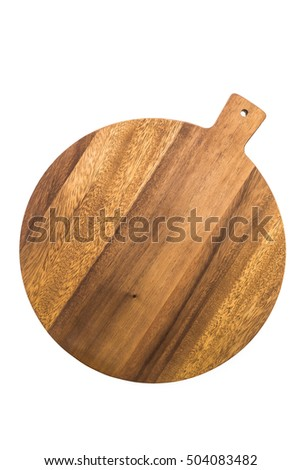 Wood cutting board isolated on white background #504083482