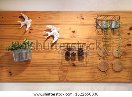 Wood decorate with bird decorate #1522650338