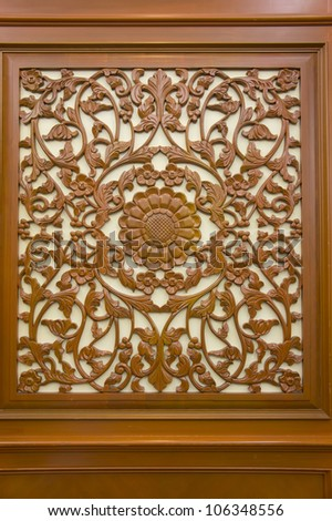 wood decorative with background design