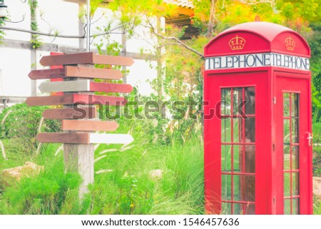 Wood direction sign, empty boards pointing towards different directions - image #1546457636