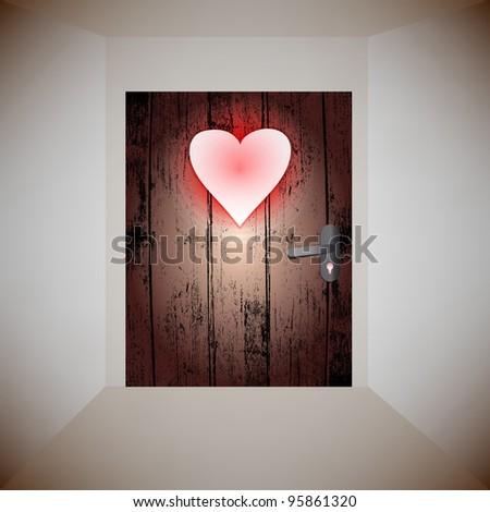 wood door love