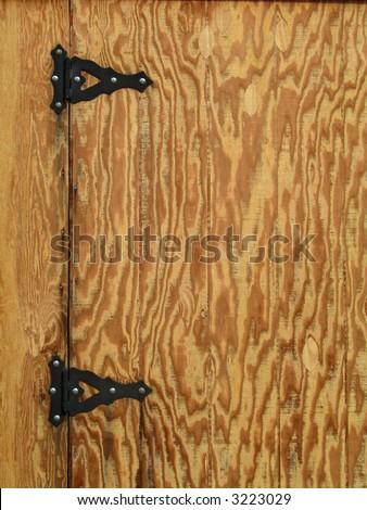 Wood Door & Metal Hinges