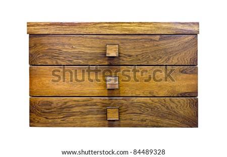 Wood drawer by teak wood