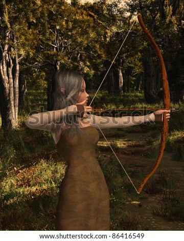 how to make a bow and arrow in the forest