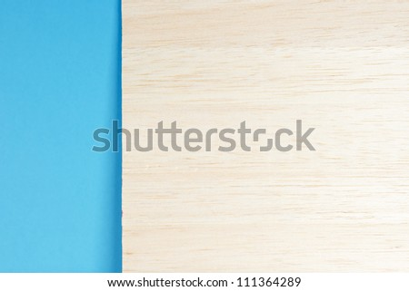 Wood empty banner with copy space