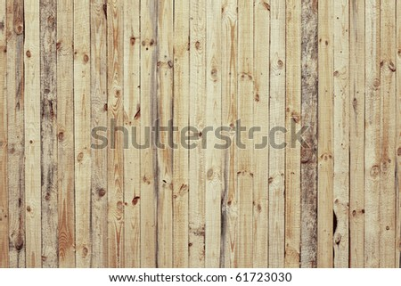 Wood fence surface
