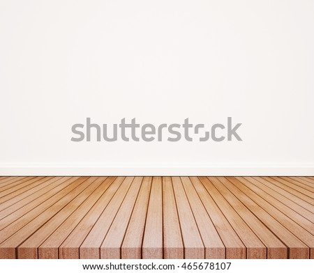 Wood floor with white wall #465678107