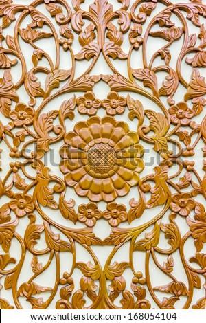 wood floral art decoration background