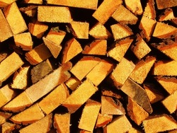 Wood for Fireplace - background or wallpaper