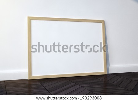 wood frame in interior