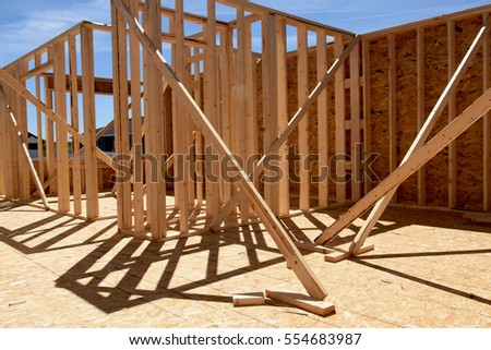 wood frame residential construction site 554683987 - Wood Frame Construction