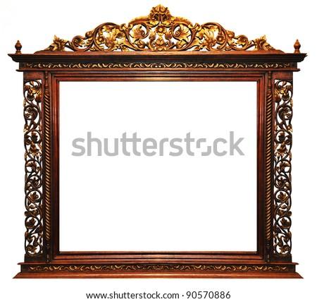 Wood frame vintage