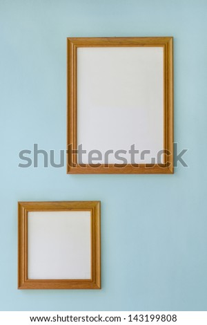 Wood frames - stock photo