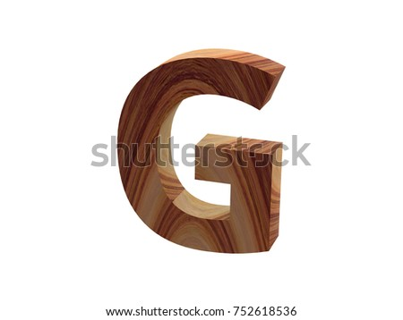 wood G font 3D render #752618536