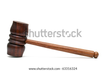 Wood hammer isolated on white