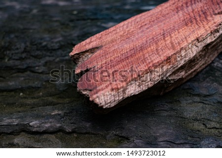 Wood has tiger stripe or curly stripe grain, Afzelia wood exotic beautiful pattern for crafts or abstract art Background #1493723012