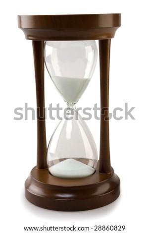 wood hourglass isolated