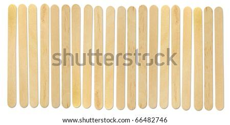 wood ice-cream stick isolated on white background