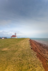 Wood Islands Lighthouse, Prince Edward Island. One of the oldest lighthouses of the Maritime Provinces, Canada