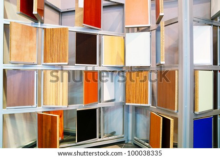 Http Www Shutterstock Com Pic 100038335 Stock Photo Wood Material Samples In Home Decoration Store Html
