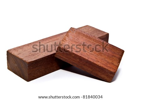 wood on white backgrounds isolated