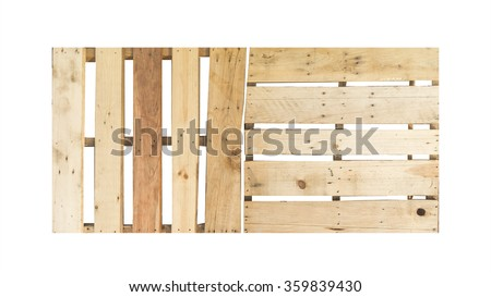 wood pallet isolated on white background