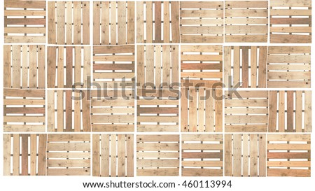 wood pallet on white background