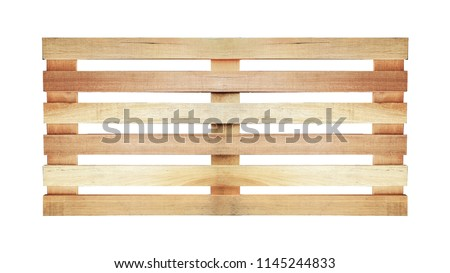 wood pallet pattern on white background in top view