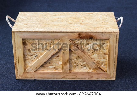 Wood Pallets - crates for transportation - Strong cargo security  #692667904