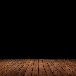 wood panels leading into the dark.