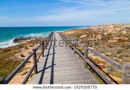 Wood passage in a beach near Vila Nova de Milfontes, Alentejo, Portugal Сток-фото ©