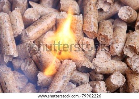 Wood pellet heating