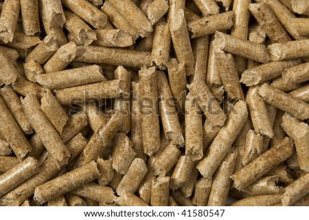 Wood pellets background