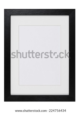 wood Picture Frame isolated