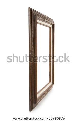 Wood Picture Frame with white background