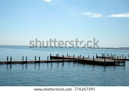 wood pier or wood pier image use for wood pier background #776267395