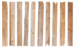 Wood plank, isolated on white background (Save Paths For design work)