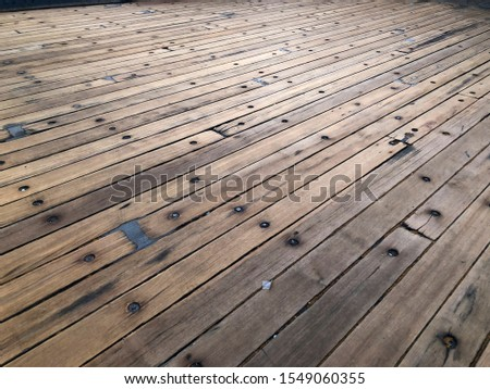 Wood planks from the Queen Mary cruise ship