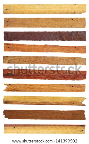 Wood planks isolated on white, Objects with clipping paths for design work