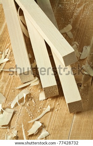Wood planks on wooden floor - stock photo