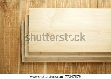 Wood planks on wooden table