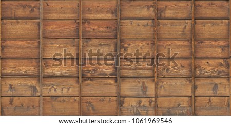 wood planks overlapping tiled #1061969546