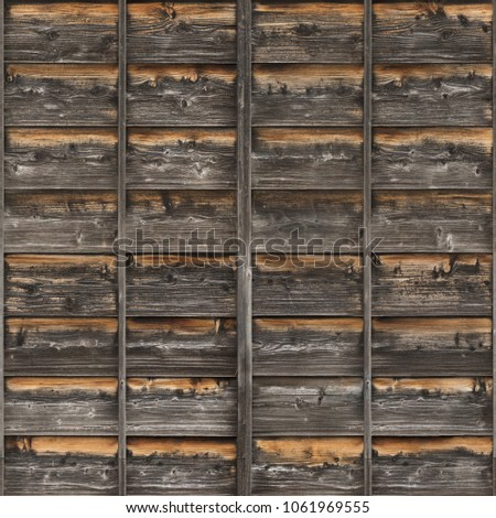 wood planks overlapping tiled #1061969555