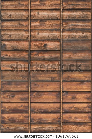 wood planks overlapping tiled #1061969561